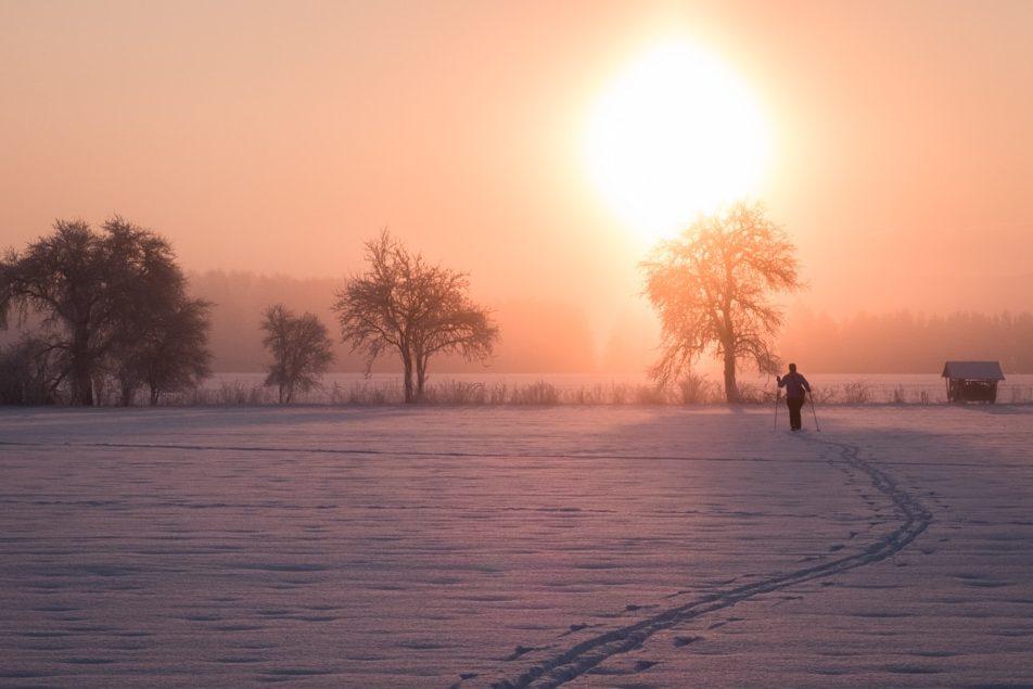Za sluncem na běžkách.