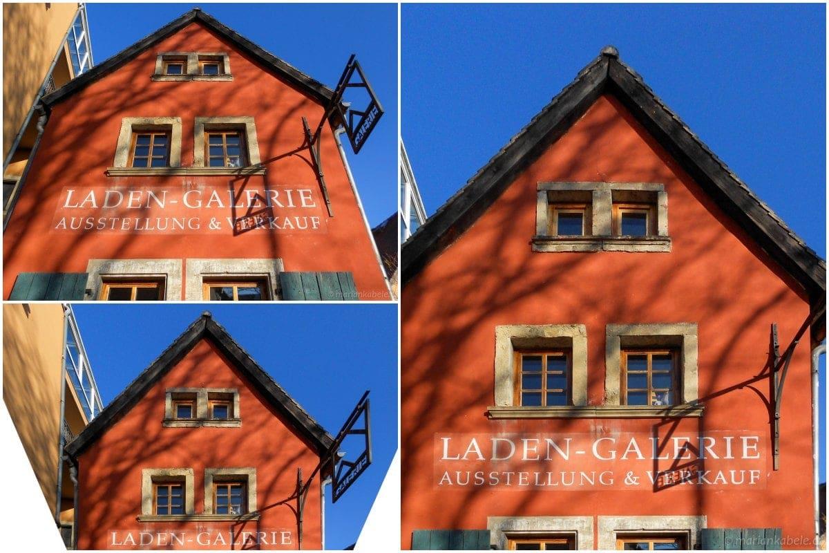 Rovnání svislic domu ve fotoeditoru.