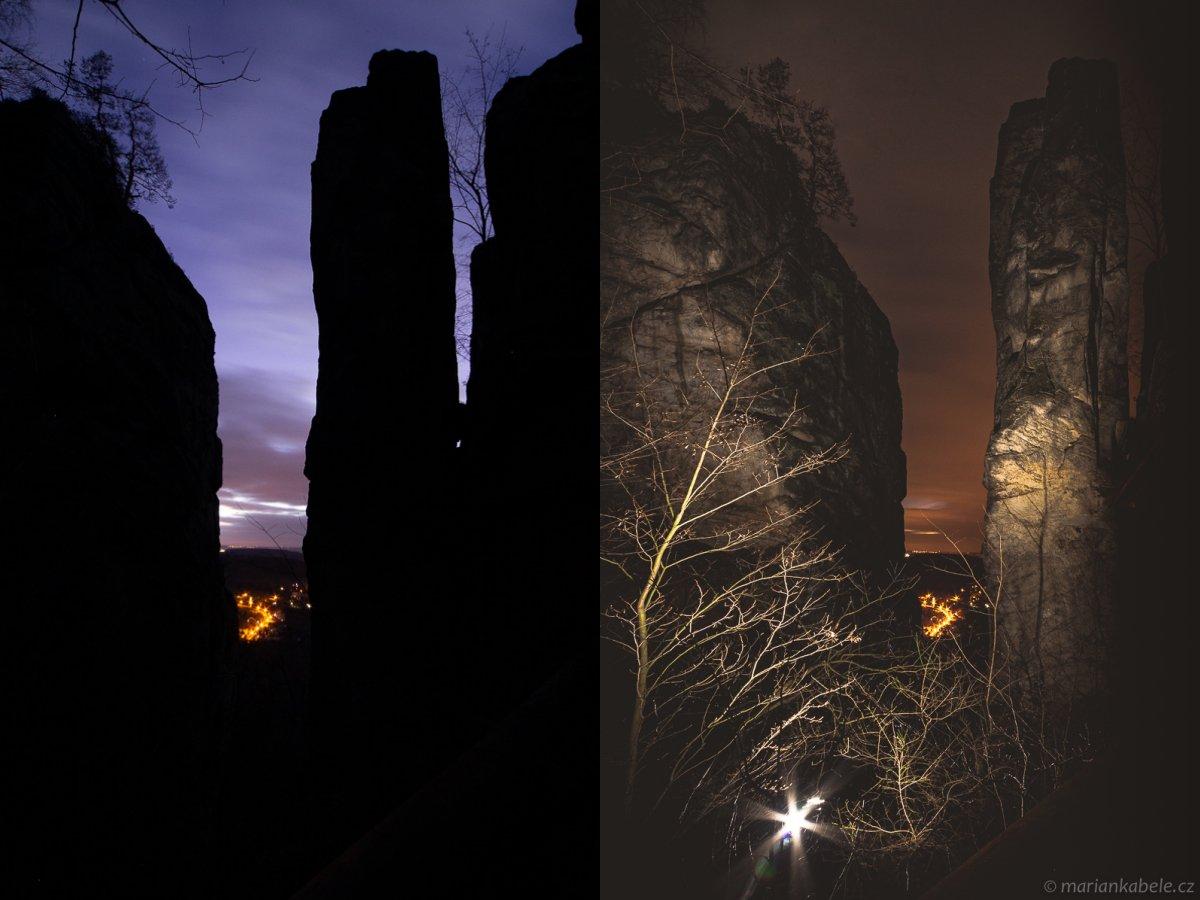 Fotopoutník: temnou nocí podDrábský sloup