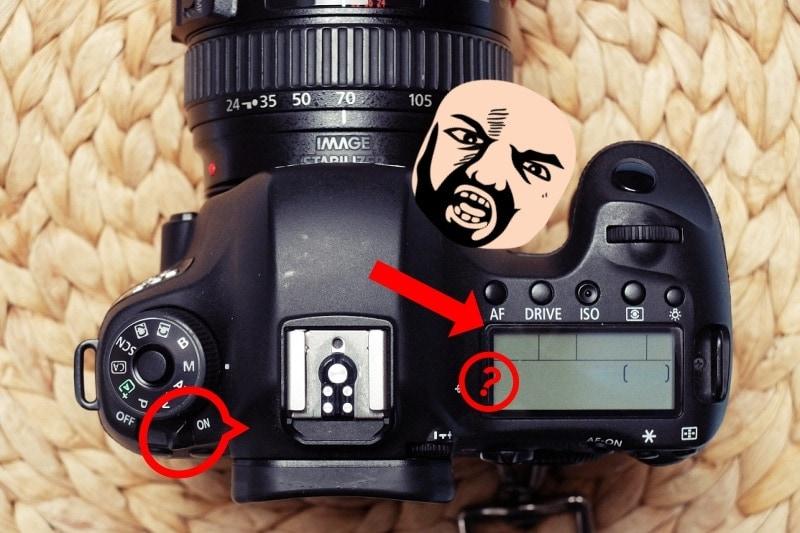 Mrtvá zrcadlovka Canon.
