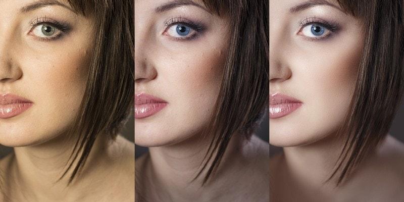 Retušování fotografie modelky.