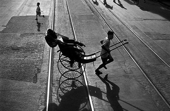 Hong Kong 1950 objektivem Rolleiflex teenagera Ho Fana