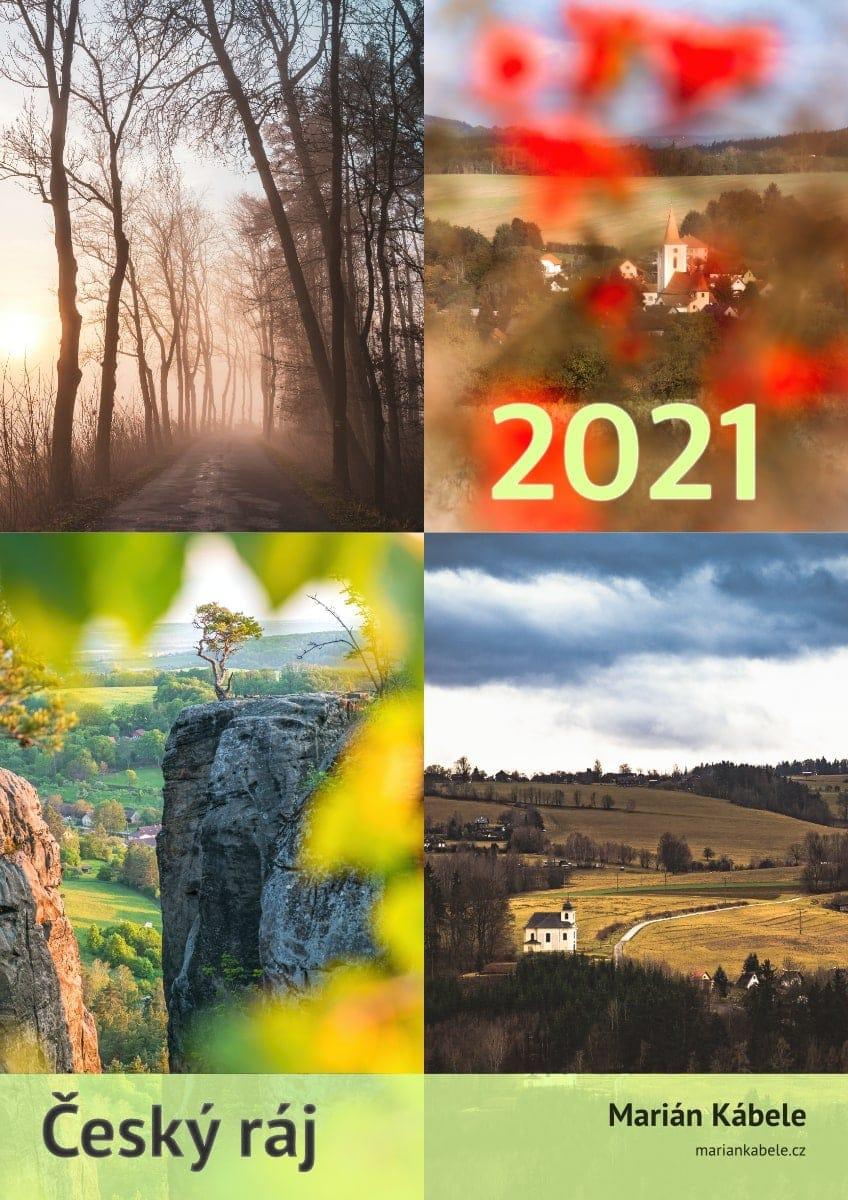 Nástěnný kalendář Český ráj 2021, A3, varianta na výšku.