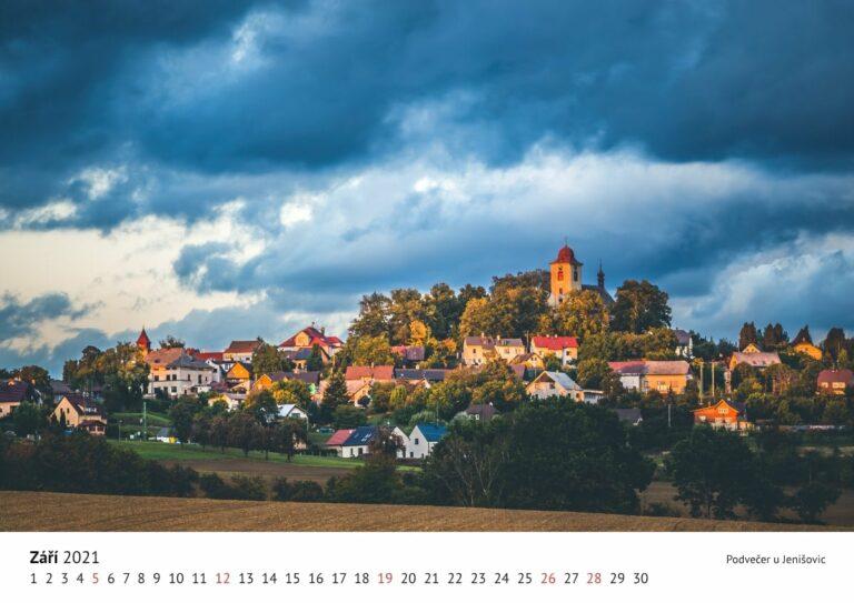 Nástěnný kalendář Český ráj 2021, A3, varianta na šířku.