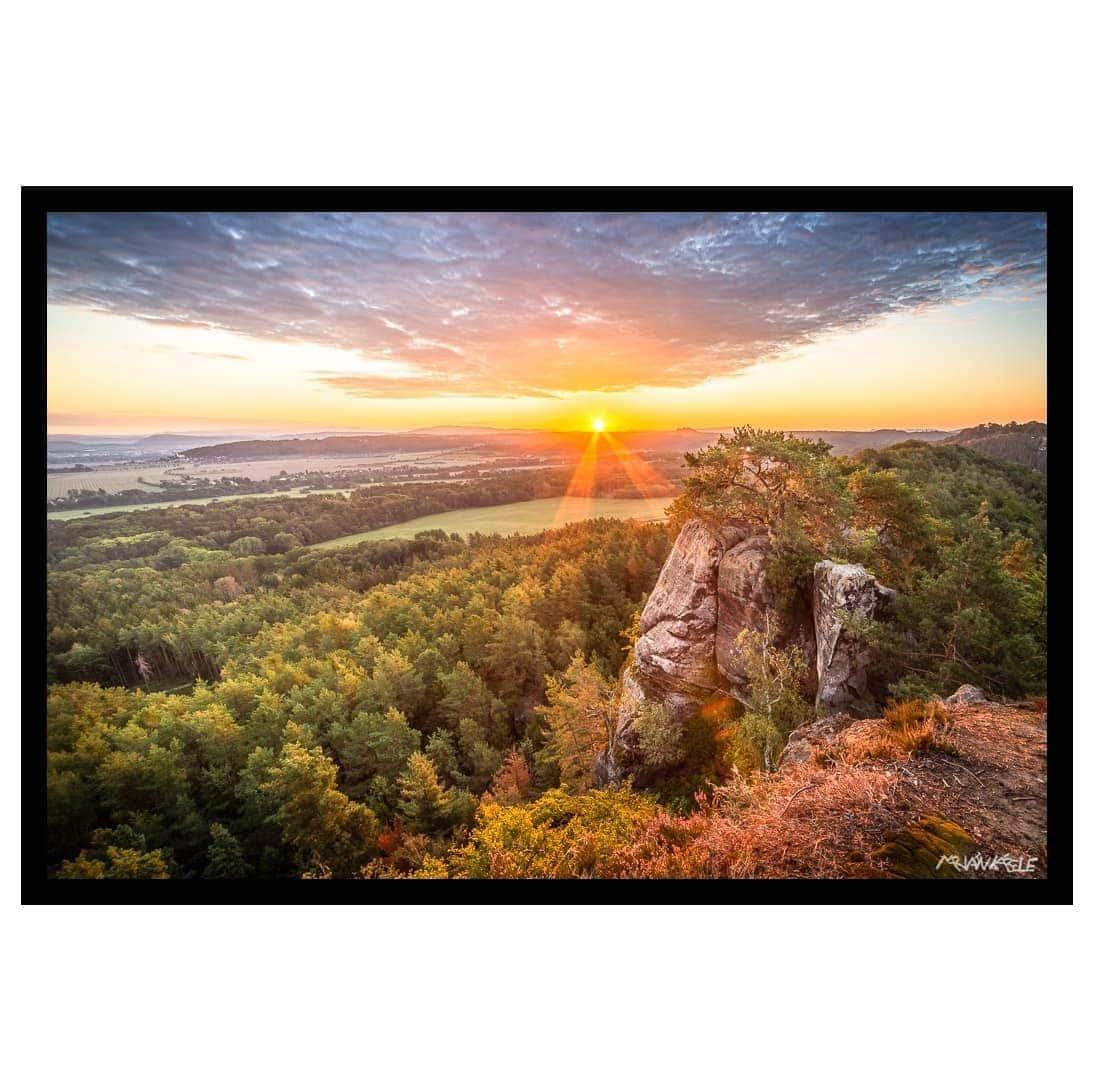 Fotoobraz 001, Východ slunce ze Staré Hrady, Český ráj.