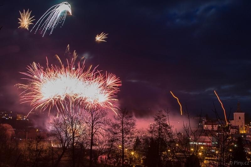 Novoroční ohňostroj Turnov.