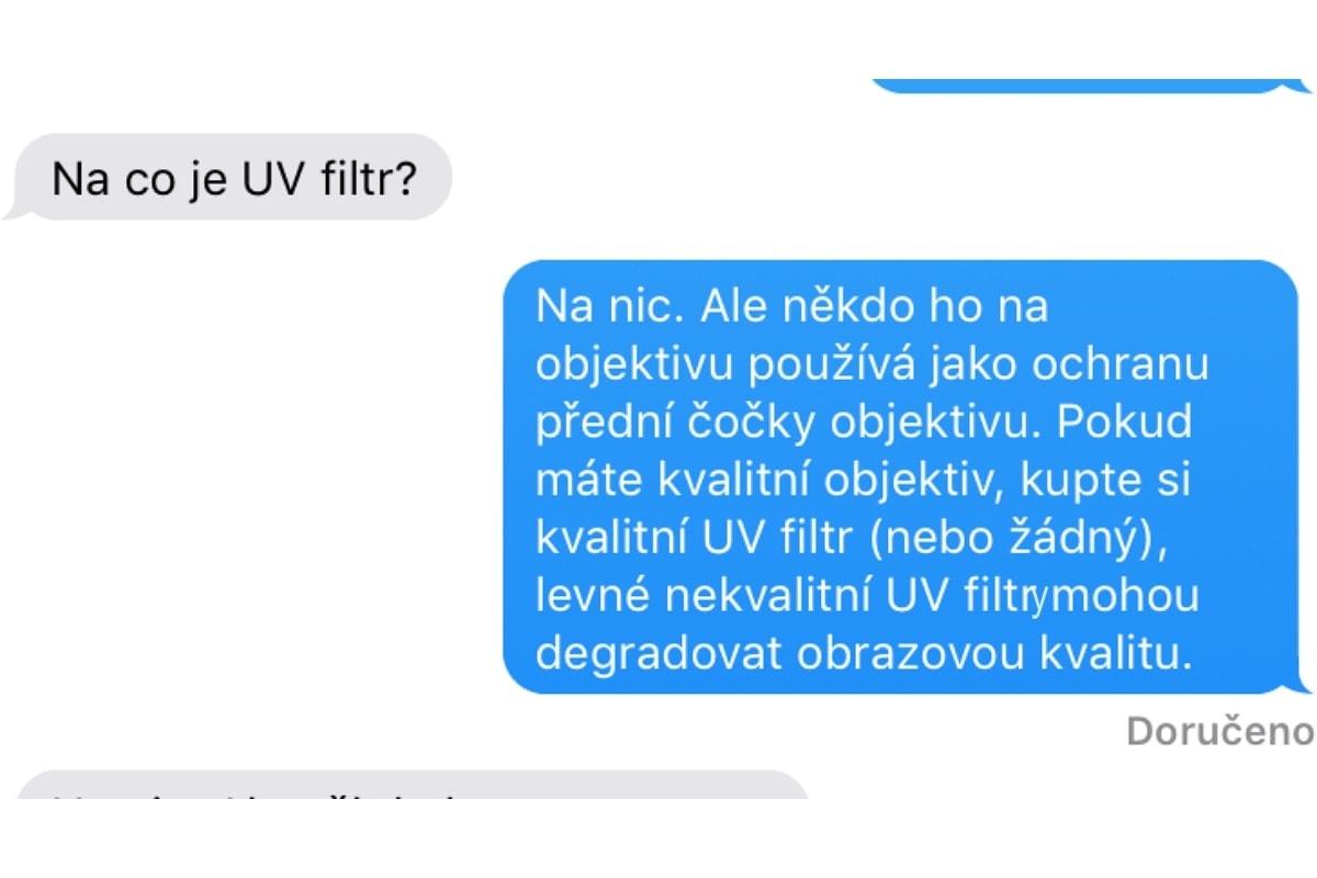 003 Na co je UV filtr?