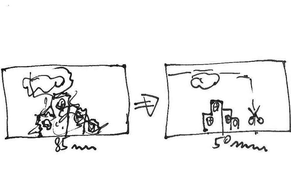 Odzoomování a následný ořez fotografie pro udržení delšího expozičního času.