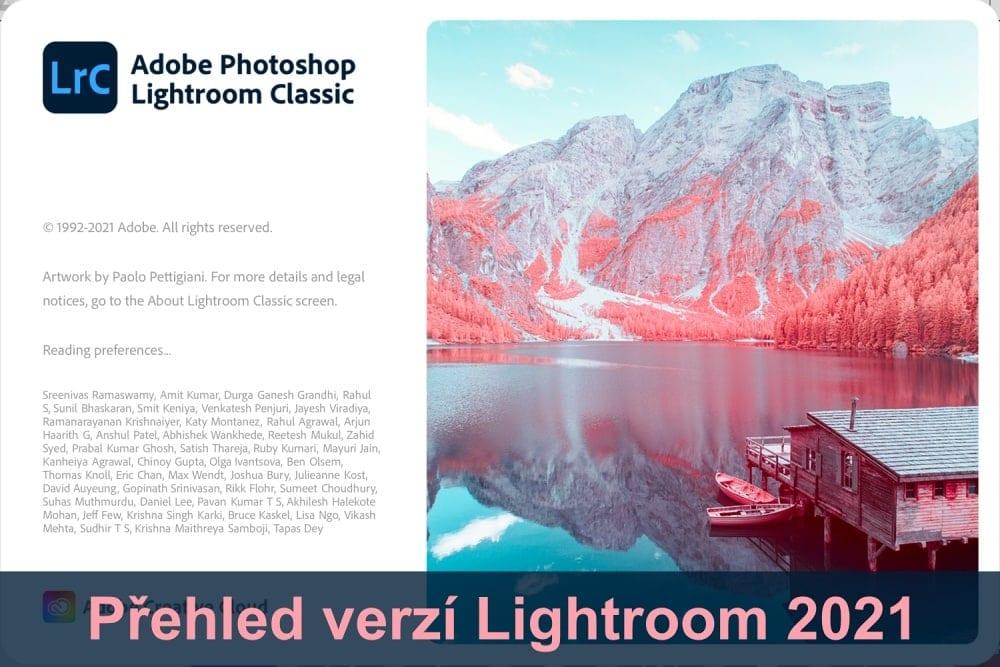 Lightroom tipy #12: Které verze Lightroom vroce 2021 jsou ajakou vybrat