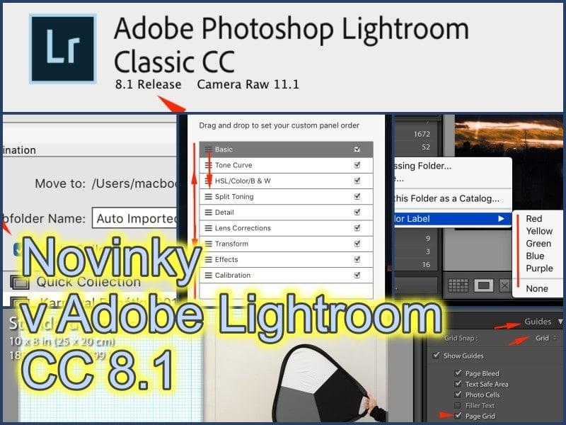 Jaké nové funkce vásčekají vLightroom Classic CC8.1?